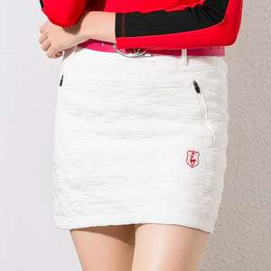 QUILTED Skirts Golf-Apparel-Shorts Women Black White Warm Female Thick Autumn Outdoor