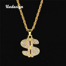 Ожерелье uodesign в стиле хип хоп рэп певица золотой цвет кулон