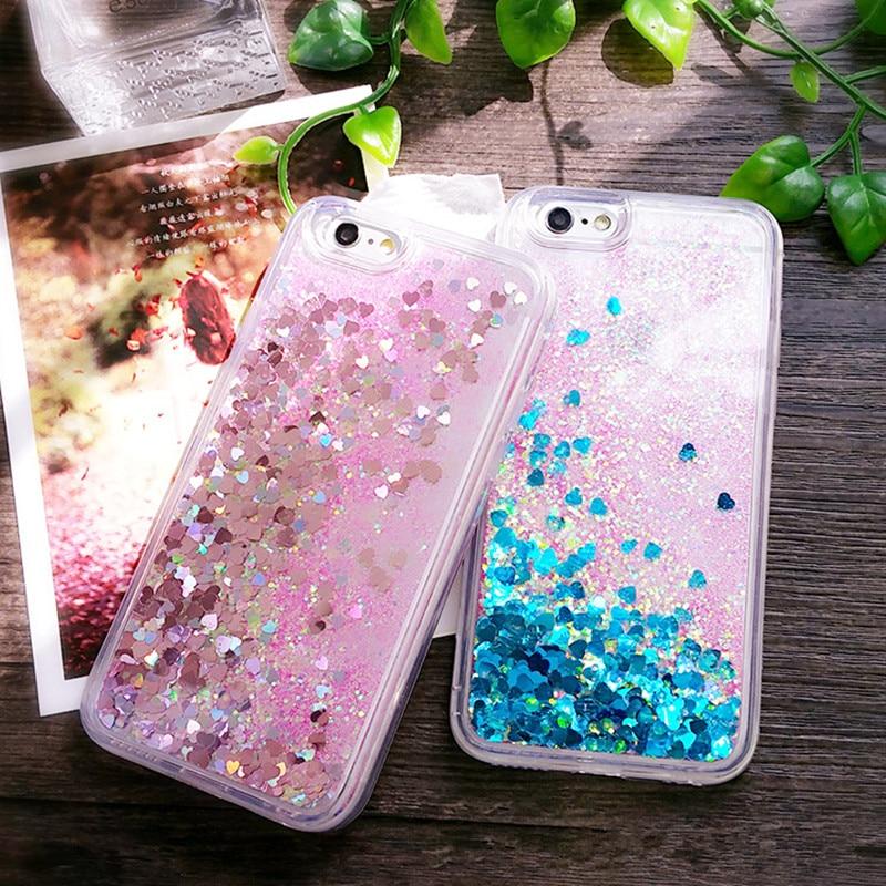 För iPhone 6 6S Plus 7 8 5 5S Fodral Glitter Liquid Quicksand - Reservdelar och tillbehör för mobiltelefoner - Foto 3