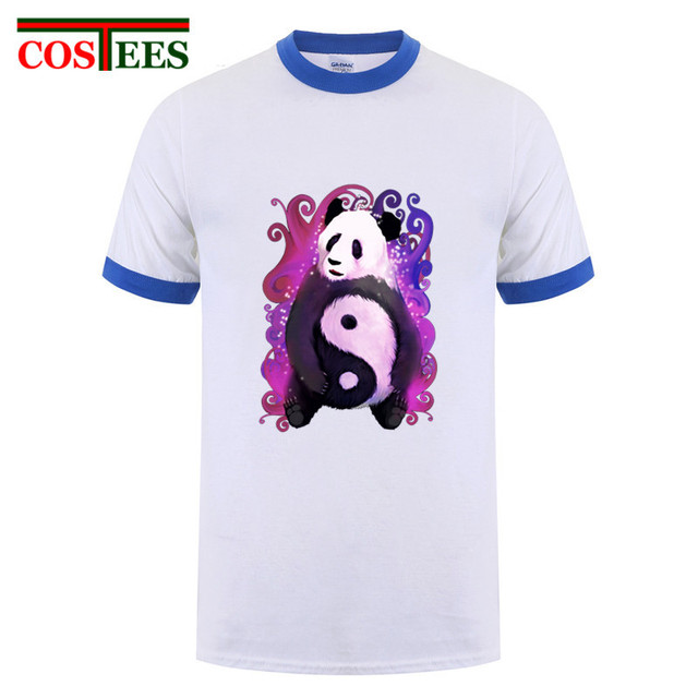 ad230e1c58c6 Fantasy Asia kawaii King Panda T shirt men Magical Yin Yang Panda T-shirt  Chinese style kung fu panda tshirt homme camiseta Tees