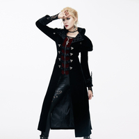 The New Winter Palace retro style cross zipper cardigan slim fake two pieces in the long wool coat girl