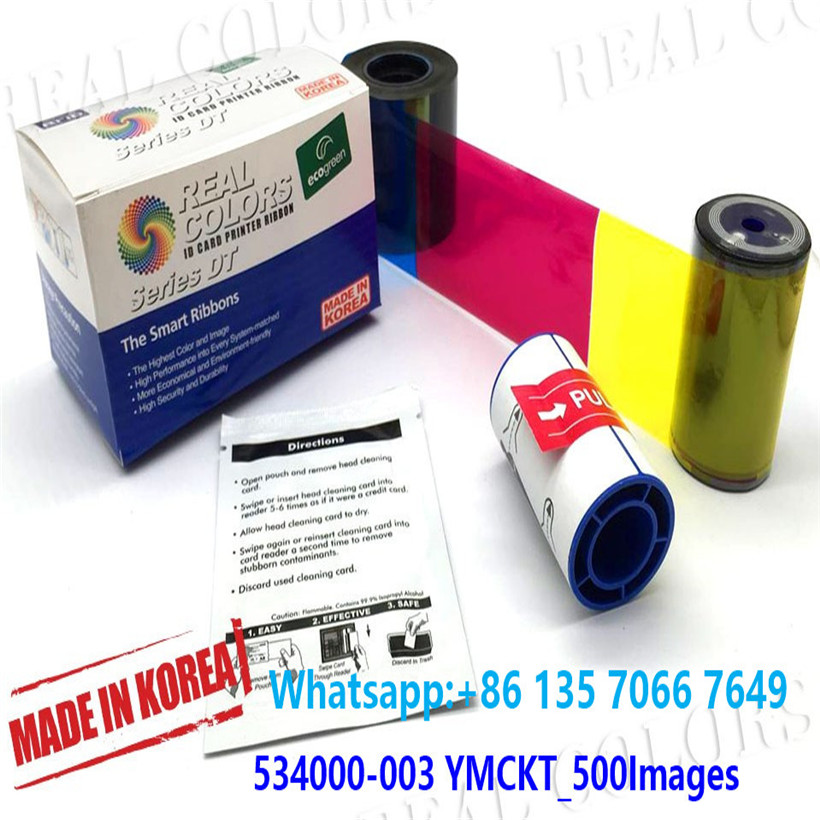 500 Image Ribbon Card Datacard Color Ribbon Kit For SP35 and SP55 Printers