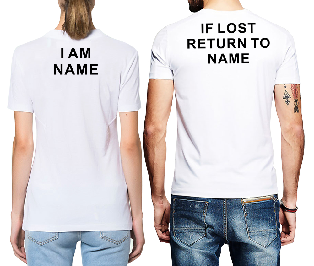 Us 14 38 20 Off Custom Back Print T Shirt If Lost Return To Name Funny Letter Printed Cotton Shirts Boyfriend Friend Lover In