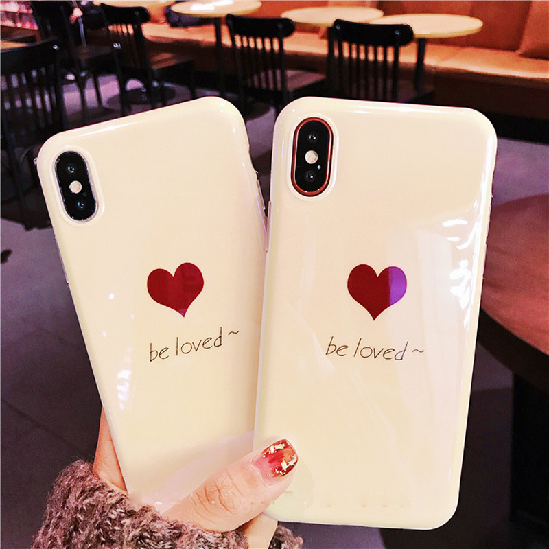Hipzip Fashion Be Loved Bling Soft Case For Apple iPhone X 10 Ten 6 6S 7 8 Plus Blue Light Silicone Cover Phone Protector Coque