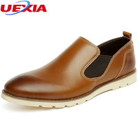 Gentleman Fashion Comfortable Stress Men Shoes Loafers Casual Slip On Simple Office Business Dress Leather Platform