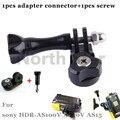 Conector do adaptador de suporte base de montagem + parafuso para sony ação cam HDR-AS100V AS15 AS30V AEE gopro action camera para SJ 4000 HD