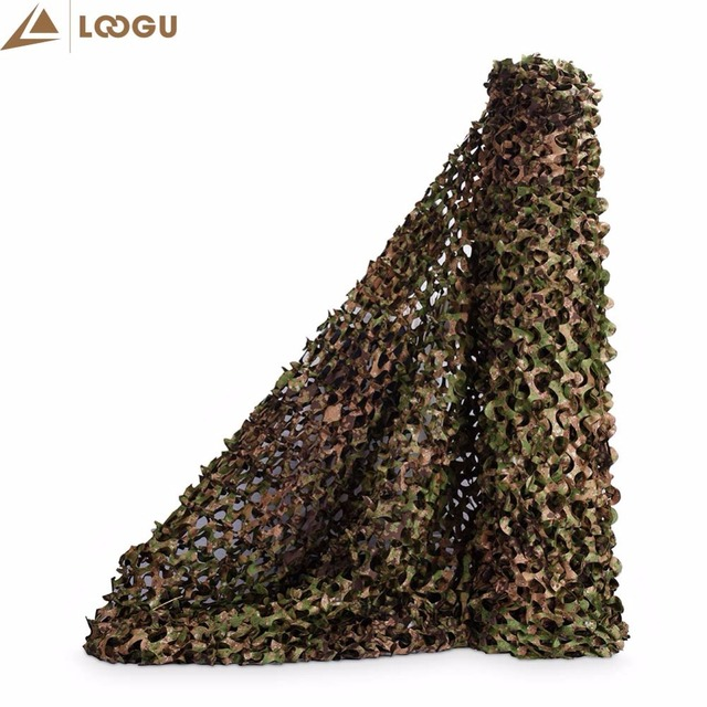 LOOGU 1.5m*2m Green Camo Sun Tent Shelter Tarp Tents Outdoor Shade Hunting Camping Decoration Jungle Party Decorations Awning