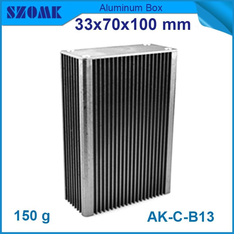 4pcs/lot silver aluminum extrusion housing heatsink control box for electronics 33*70*100mm 1 piece light grey aluminum extrusion profiles heatsink wall mounted distribution case 24x80x90mm