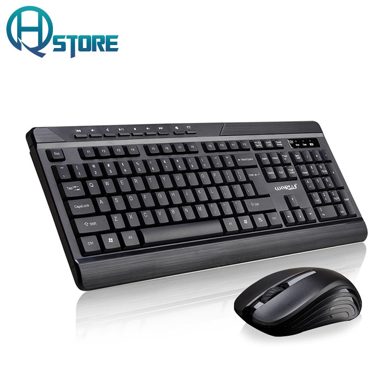 wireless business keyboard mouse combo 2 4g usb keyboard mouse set silent keyboard for office pc. Black Bedroom Furniture Sets. Home Design Ideas