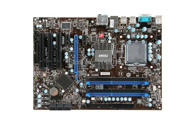 Бесплатная доставка в исходном материнская плата для MSI P43-C51 материнская плата рабочего материнская плата LGA 775 DDR3 Все твердые 16 ГБ