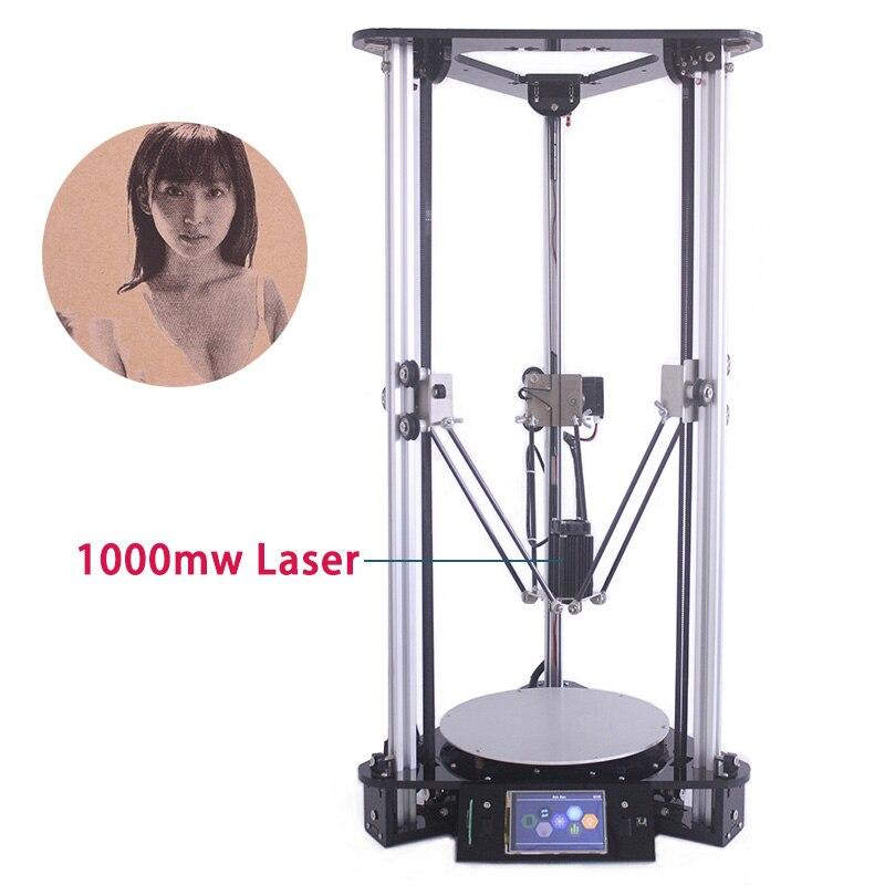 1000 МВт лазерный гравер Delta 3D-принтеры DIY Kit с Smart выравнивания 32-битный процессор ARM автоматической подачи нити bitmap файл образа
