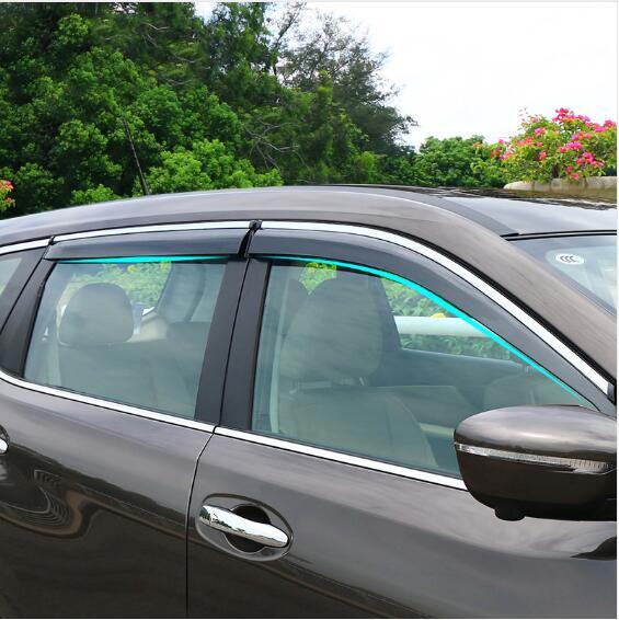 Pour Nissan X-trail X trail t32 2014 2015 2016 Côté Fenêtre Déflecteur De Pluie Garde Visière Temps Whields Porte ombre Weathershield