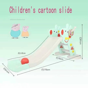 children slide Children's home indoor birthday toys with widening, lengthening, thickening and folding a small slide