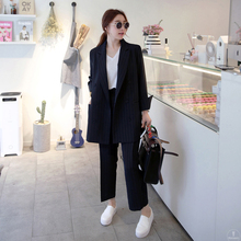 Fashion women's spring and autumn small suit suit striped lo