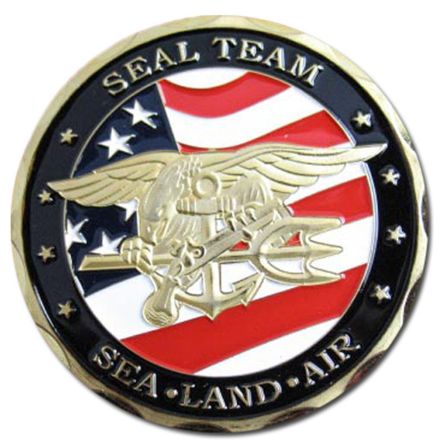 United States Navy Seal Team 24k Gold Plated Challenge Coinmedal 71