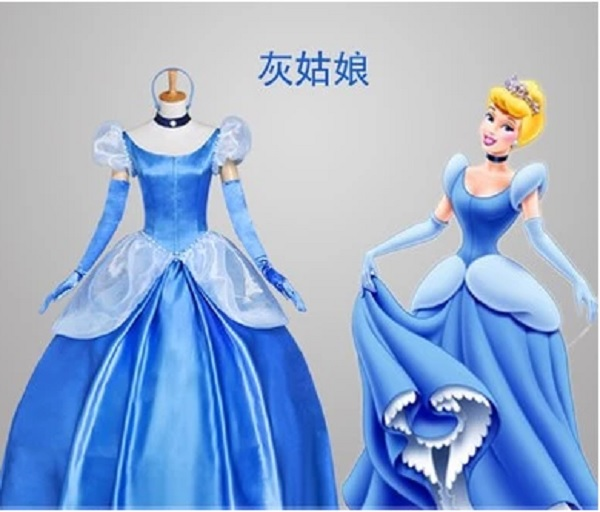 blue custom cinderella dress women princess cinderella dress woman adult cosplay princess cinderella dress costume for
