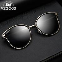 VEGOOS Sunglasses Women Polarized vintage Cat Eye Glasses Colorful Mirrored Lens Fashion Round Sun Glasses oculos #6115