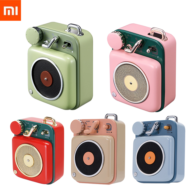 Mooi Xiaomi Mijia Cat Koning Atomic Platenspeler B612 5 Kleuren Bluetooth Intelligente Audio Draagbare Zink Aluminium Shell Speaker Mu
