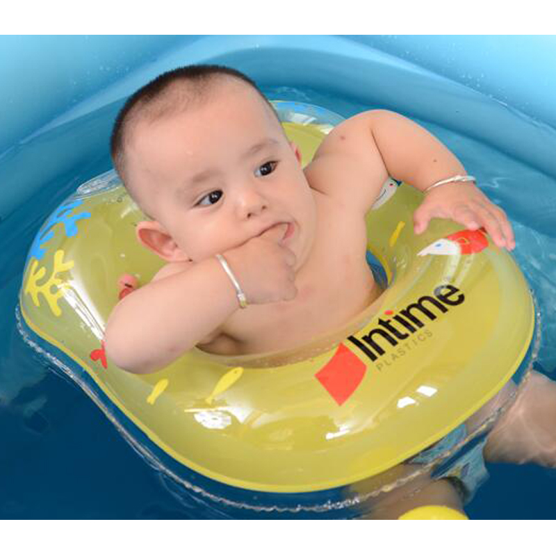 2017 Kids 6 Months To 2 Years Old Baby Swim Ring Floating Ring Infant Inflatable Armpit Ring Cartoon Animal Swimming Accessories