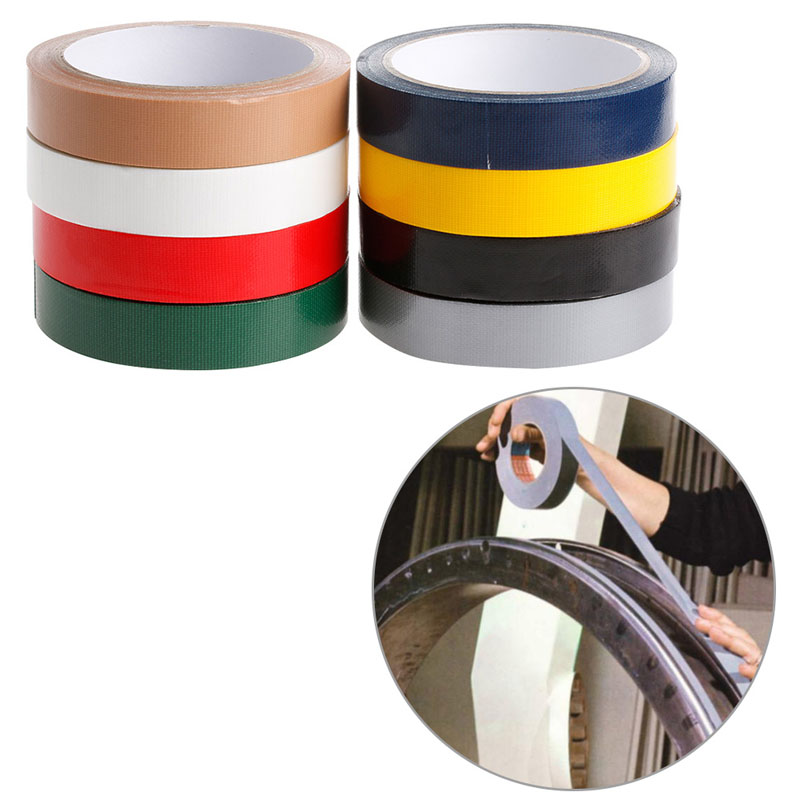 YIKAA Duct Gaffa Gaffer Waterproof Adhesive Repair Bookbinding Cloth Tape Red/Black/Blue/Brown/Green/Silvery Gray/White/Yellow