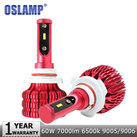 Oslamp светодио дный 9005/HB3 автомобилей лампочки светодио дный чипы авто светодио дный фара 60 Вт 7000LM 6500 К 9006/HB4 светодио дный огни автомобиля без ...