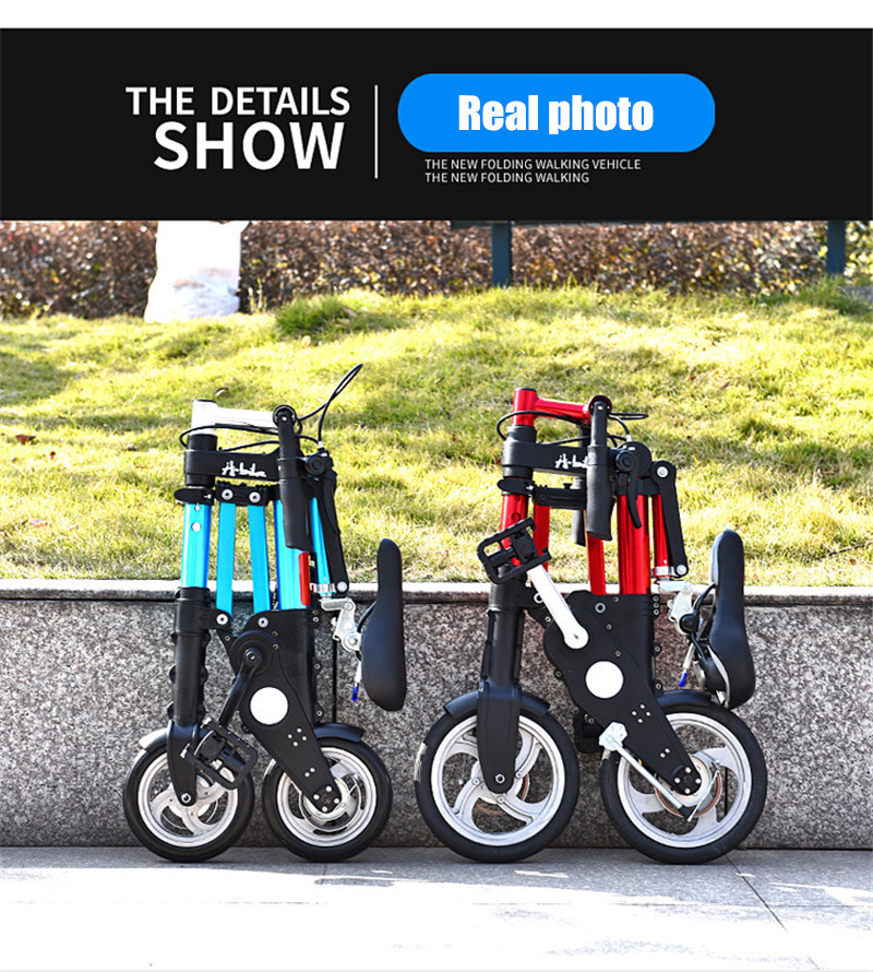 "HTB1j8qdXlv0gK0jSZKbq6zK2FXaZ Brand New Ultra Light 8""/10"" Mini Folding Bike Bicycle Portable Outdoor Subway Transit Vehicles Foldable Bicicleta"