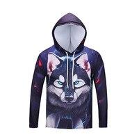 2018 Hot Sale Brand Wolf Printed Hoodies Men 3D Sweatshirt Quality Plus Size Pullover Novelty Streetwear