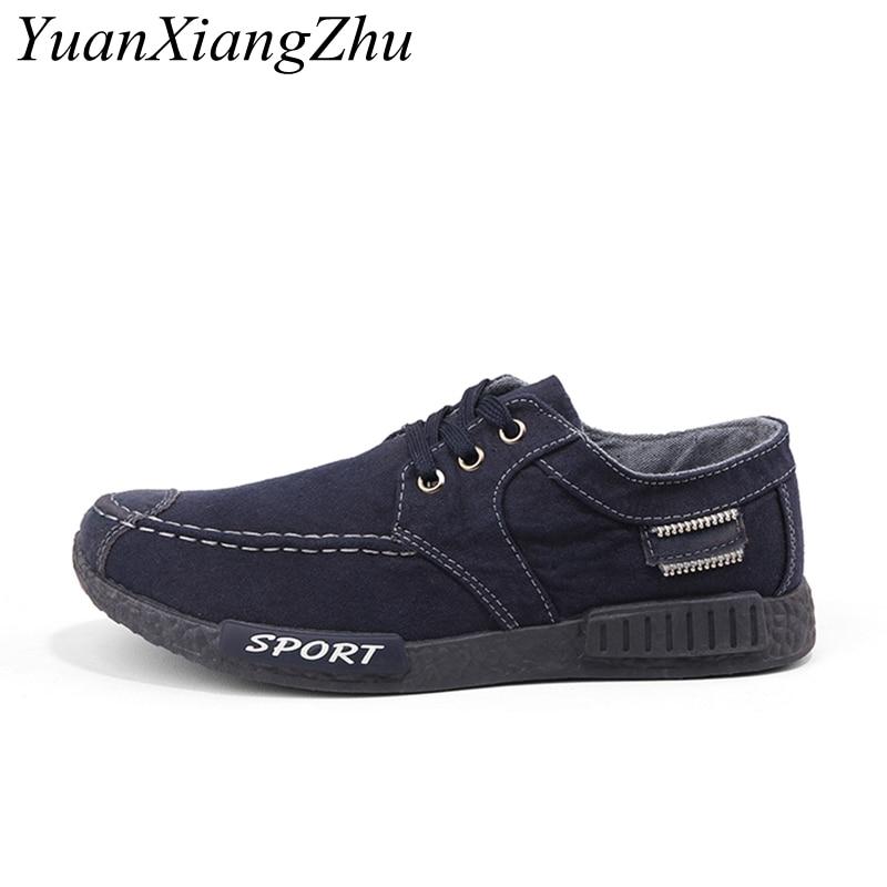 half off 557b1 75e26 2018-zapatos-casuales-de-mezclilla-para-hombre-zapatos-casuales-de -lona-con-cordones-nuevos-Plimsolls-calzado.jpg