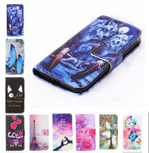 New two side Painted wallet Phone cover Rose Flower Tower pattern Flip Leather Case for Samsung Galaxy S3 i9300 / S3 Duos i9300i