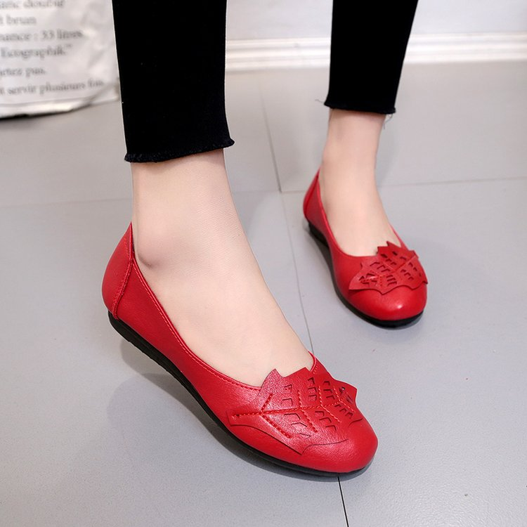 18 Soft Women Shoes Flats Moccasins Slip on Loafers Genuine Leather Ballet Shoes Fashion Casual Ladies Shoes Footwear E003 11