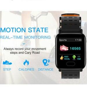 Image 2 - Inteligente Pulseira Bluetooth Relógio Inteligente para iPhone Android Tela de Toque de fitness atividade Tracker watch Pulseira de silicone Remoto