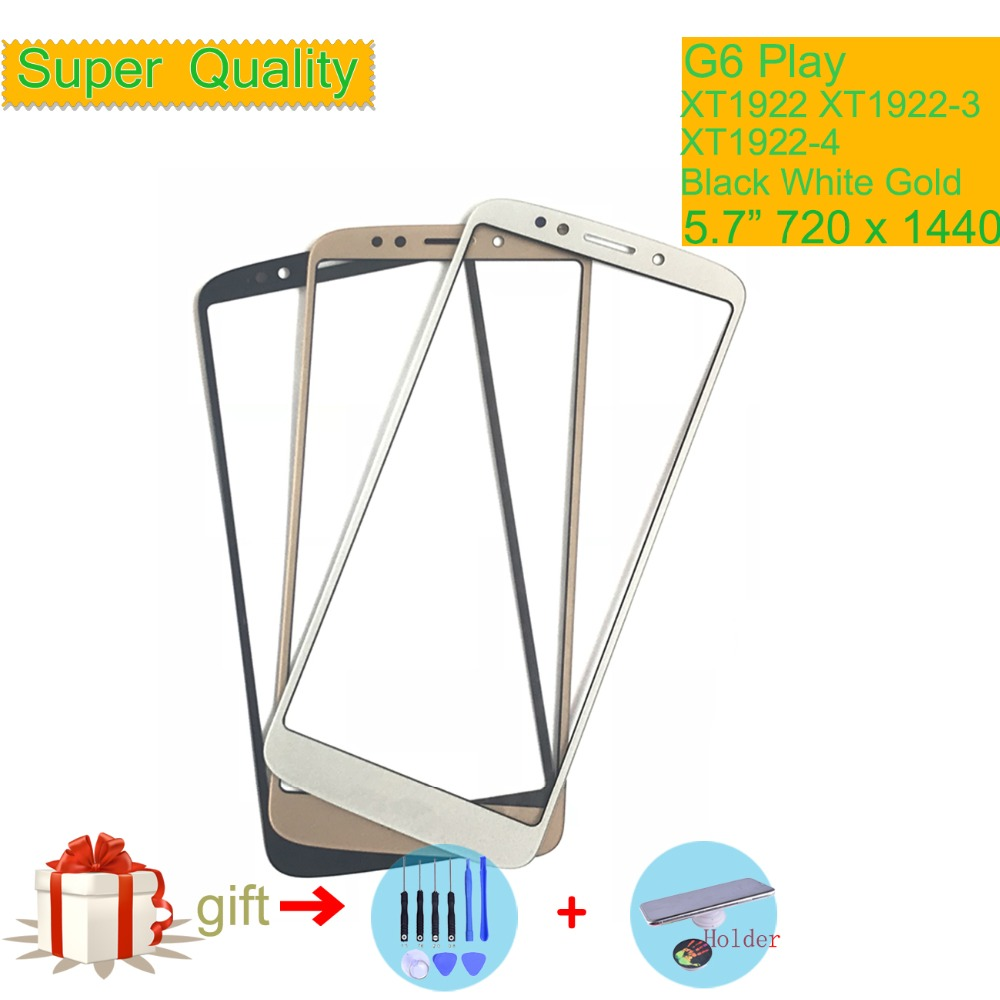 G6Play For Motorola G6 Play XT1922 XT1922-3 XT1922-4 Touch Screen Front Outer Glass Panel Lens NO LCD Display Digitizer 5.7