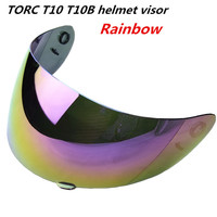 TORC T10 Prodigy Motorcycle Helmet Replacement Face Shield Visor Black Tinted Full Face Helmet Windproof Visor