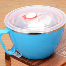 Multipurpose Lunch Box Salad Instant Noodle Stainless Steel Bowl Cookware