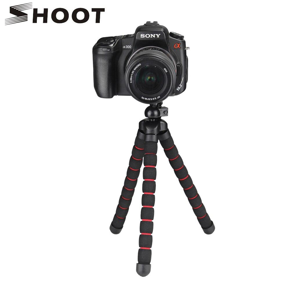 Disparar gran tamaño flexible pulpo trípode para Gopro 7 6 5 Sjcam Xiaomi Yi 4 K Eken Nikon Sony Canon d5200 DSLR trípode soporte de montaje