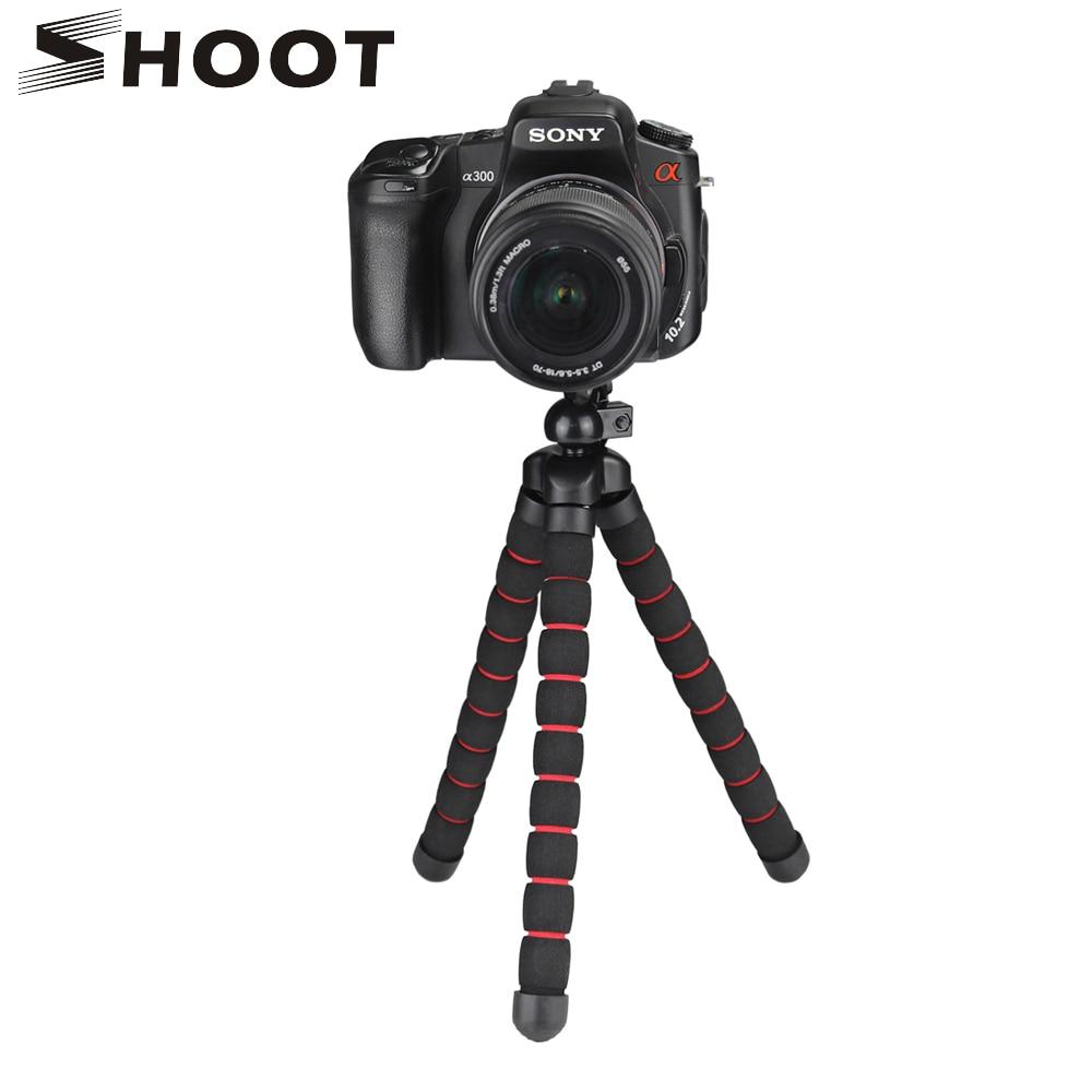 SPARARE di Grandi Dimensioni Flexable Polpo Treppiede per Gopro 7 6 5 Sjcam Xiaomi Yi 4 k Eken Nikon Sony Canon d5200 DSLR Treppiedi Del Basamento Del Supporto Del