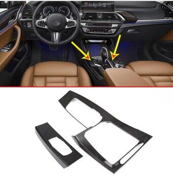 Carbon Fiber Center Console Gear Shift Decoration Panel Cover Trim For BMW X3 X4 G01 G02 2018-19 Car Accessories LHD