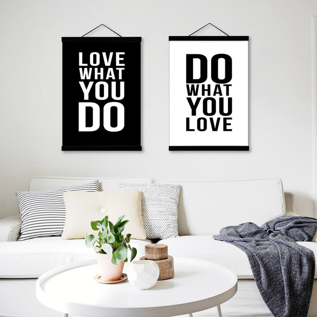 Love black white modern inspirational poster prints canvas painting wall art decor book motivational poster quotes