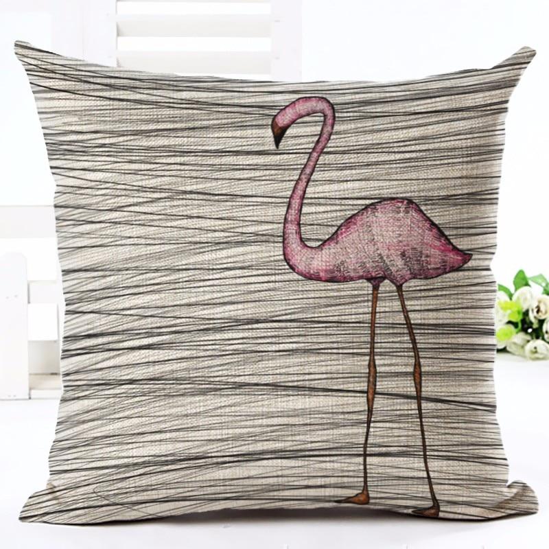 Moda Üslubu Tropik Flamingo Çap Atılan Yastıq Ev Yastığı - Ev tekstil - Fotoqrafiya 4
