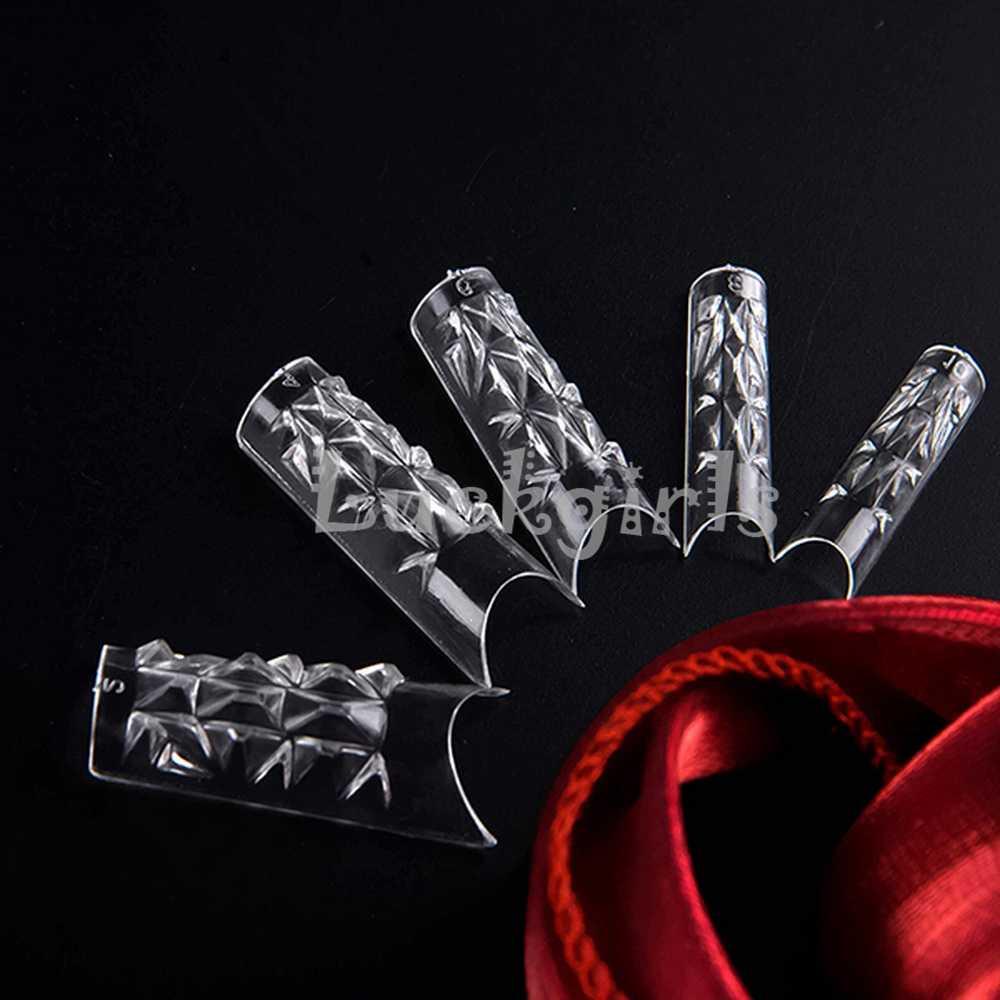 100 PCS Batal Glaze Kaca Mosaik Palsu Palsu Nail Tips Desain Nail Art Tips