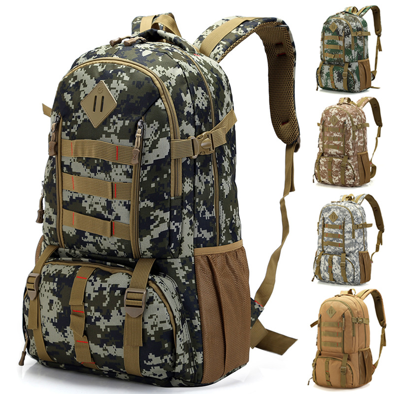 Military Tactical Assault Pack Backpack Army Molle Mountain Climbing Rucksack Outdoor Sports Hiking Hunting Backpack 50L