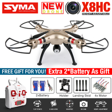 NEW SYMA X8HC RC Quadcopter RC Drone With 2MP Camera HD 2.4G 6-Axis RTF Dron Hovering Position RC Helicopter With VS MJX X101
