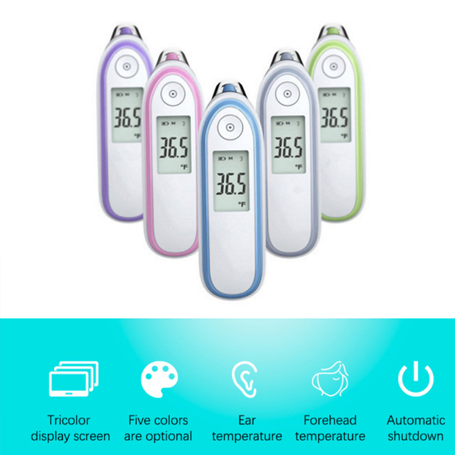 Fingertip Pulse Oximeter Medical Equipment Wrist Blood Pressure Monitor Infrared Body Thermometer Set Household Health Monitors 1