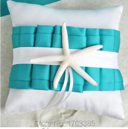 8u0027u0027x8u0027u0027 white turquoise starfish satin sea shell ring bearer pillow beach themed furniture stores