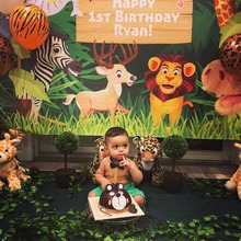 цены на Mehofoto Background Photography Jungle Safari Party animals cartoon leaves forest photo backdrop Birthday Party photocall Studio  в интернет-магазинах