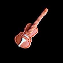 Силиконовая форма для помадки в форме скрипки инструменты украшения