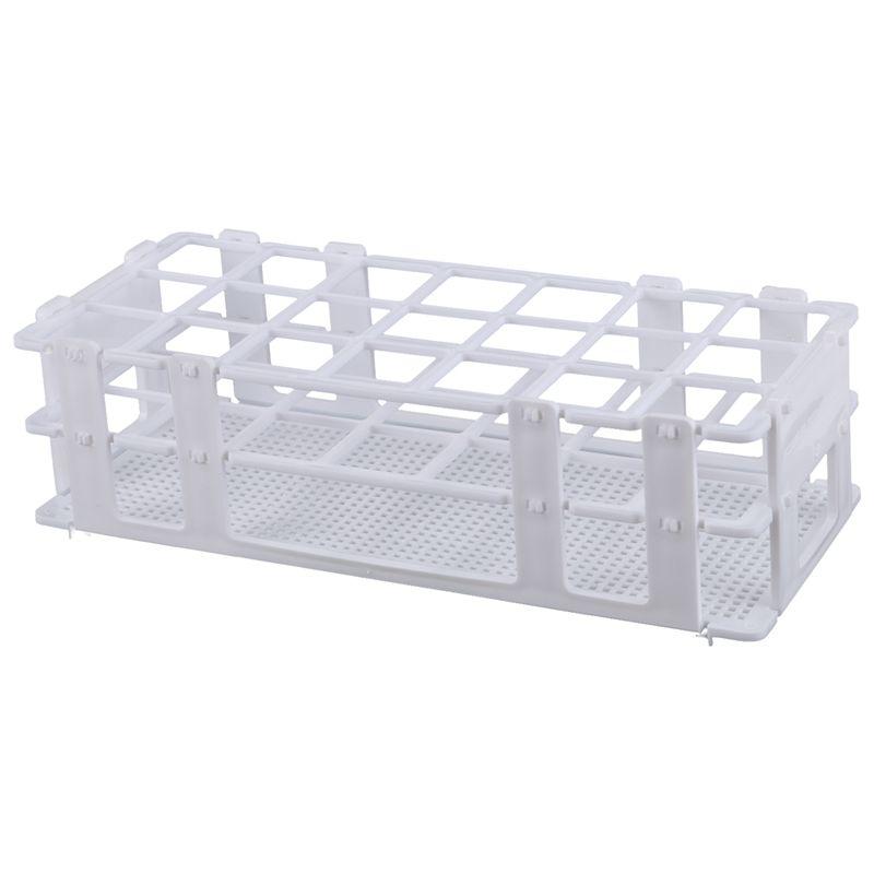 Plastic Test Tube Rack For 30mm Tube, 21 Well, White,Detachable (21 Hole)