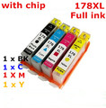 Hp178xl 178 XL cartucho de tinta compatível para HP Photosmart B109a / B109n / B110a / Plus B209a / B210a Deskjet 3070A / Officejet 3520 4620