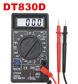 10pcs DT830D Voltmeter ammeter Multimeter with Buzzer Ohm Voltage tester Ampere Meter + Test Probe LCD 20%Off