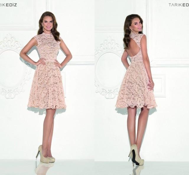 b6399e3a1e8 2016 Short Homecoming Dresses Cap Sleeve Full Lace A Line Knee Length Cute 8th  Grade Graduation Dresses